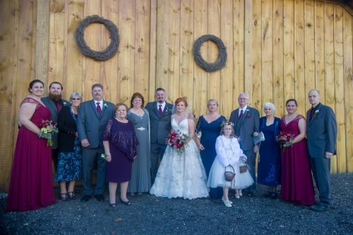 Wedding family portrait. Ma wedding and portrait photography. rustic barn wedding. barn wedding photography