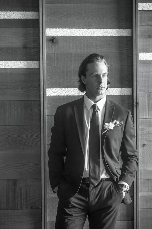 groom portrait new england
