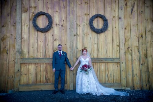 Rustic Massachusetts Wedding, Barn Wedding.  Red hair bride