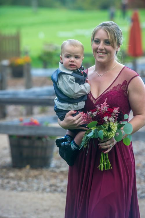 Sister of the bride, ring bearer, children in wedding ma rustic new england wedding western ma