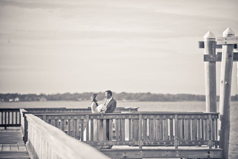 Wedding portraits by the water. colt state park. New england and destination wedding photographer